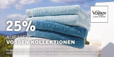 25% auf viele Vossen-Kollektionen