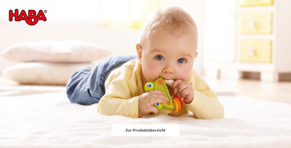 Haba Spielwaren entdecken Baby Beissring Gelb