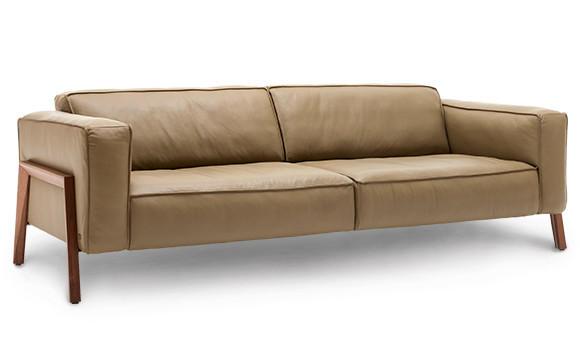 Wunderschönes Sofa in hellbraunem Leder