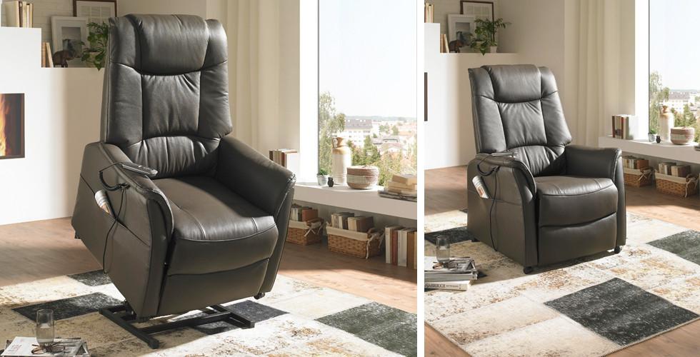 Hochwertiger Relaxsessel mit elektrischer Aufstehhilfe bei XXXLutz.