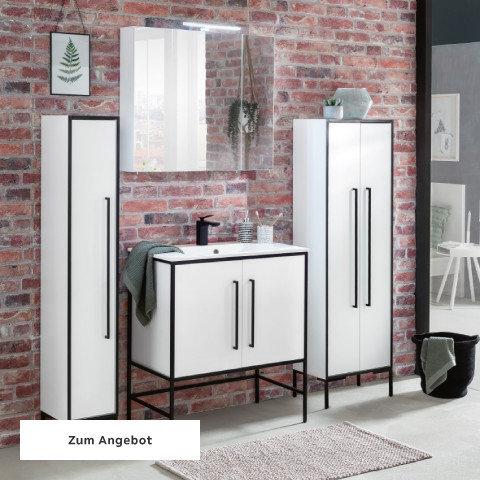 Badezimmerserien Schwarz Weiß Ziegel