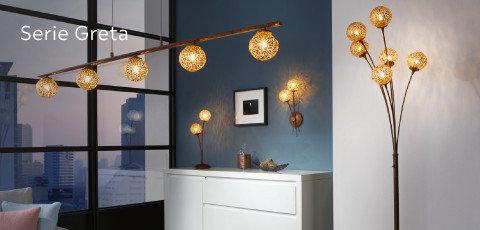 Leuchten Serie Greta Kugeln Braun Orange