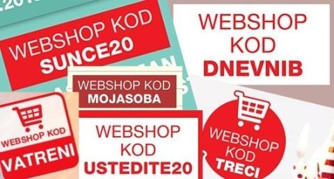 kodovi za popust u web shopu