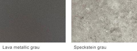 Set One by Musterring Elba Arbeitsplatten Lava metallic grau Speckstein grau