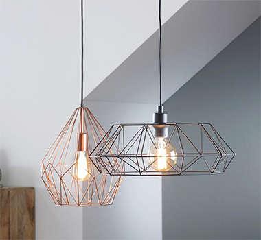 Viseće svjetiljke industrijskog stila u Lesnini