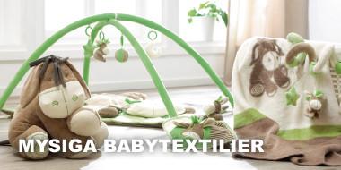 Mysiga babytextilier
