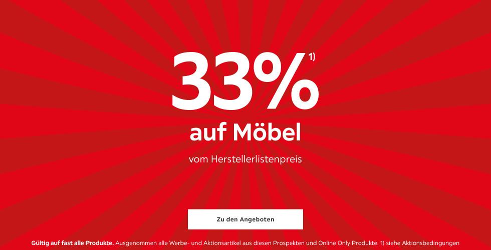 33% auf Möbel vom Herstellerlistenpreis