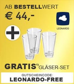 Gratis Gläser-Set ab 44,-€ Bestellwert