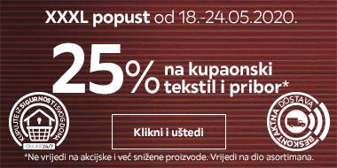 25% na kupaonski tekstil i pribor