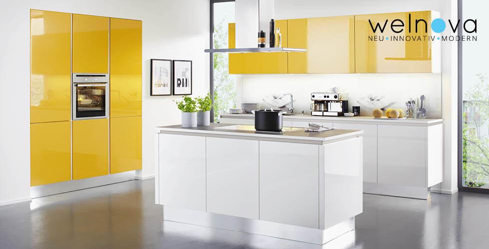 Žuto bijela kuhinja Welnova
