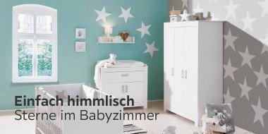 Einfach himmlisch: Sterne im Babyzimmer