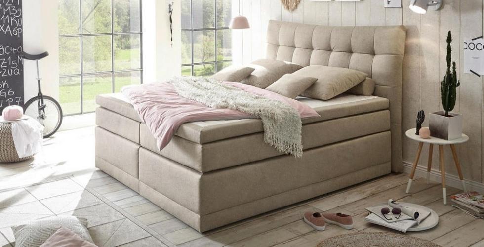 boxspring krevet krem boje