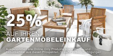 25% auf Ihren Gartenmöbeleinkauf