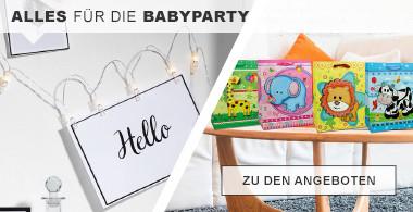 Alles für die Babyparty