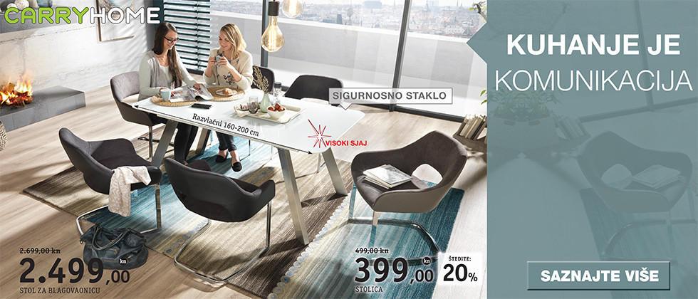 Elegantan stol za blagovaonicu bijele boje Lesnina XXXL