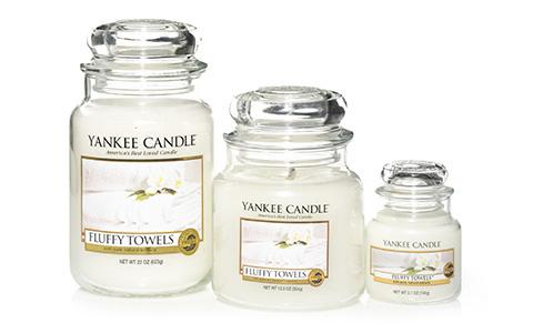 Yankee Candle Fluffy Towels Jars in verschiedenen Größen