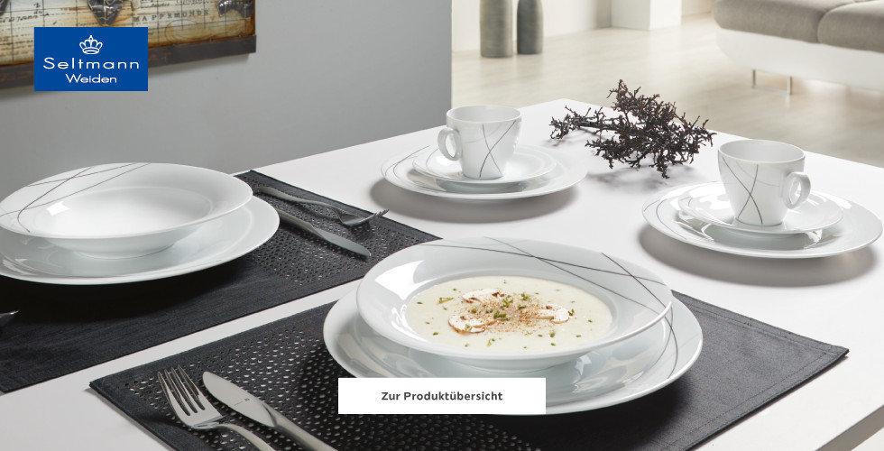 Seltmann Weiden Geschirr Weiß Grau