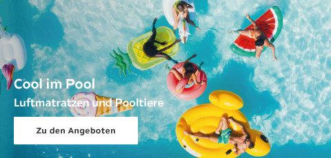 Cool im Pool Luftmatratzen und Pooltiere