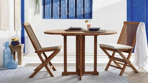 sklopivi drveni vrtni stol