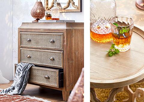 Möbel und Haushaltswaren im fernöstlichen Look