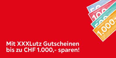 Mit XXXLutz Gutscheinen bis zu CHF 1.000 sparen