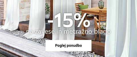 -15% na zavese in metražno blago