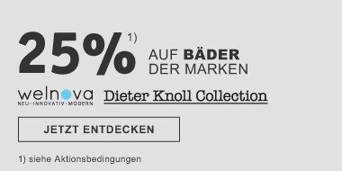 25% auf Baeder der Marken wenolva, Dieter Koll Collection