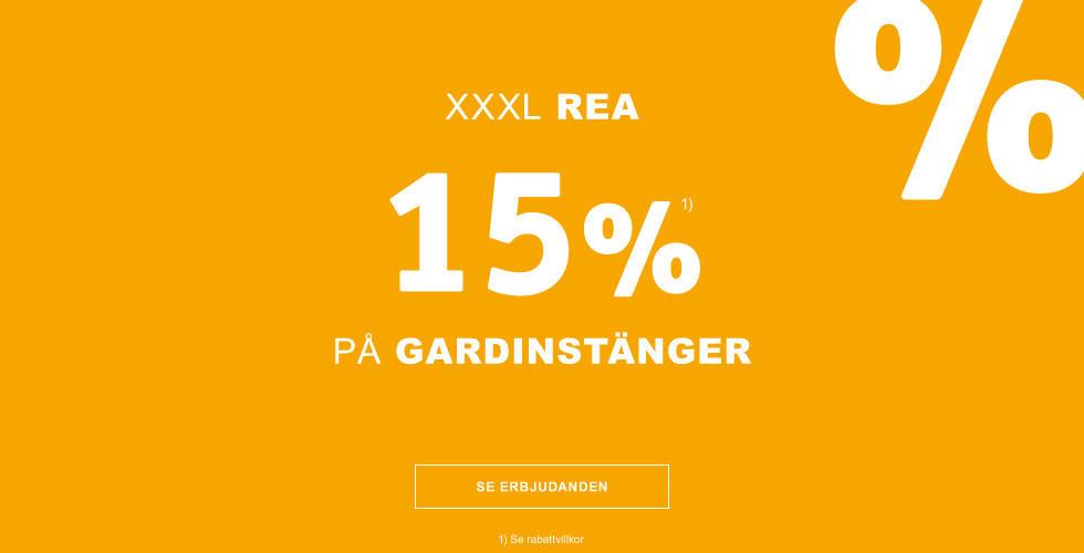 15% på gardinstänger