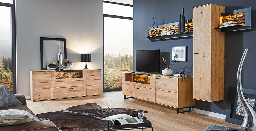 Wohnzimmer Holz | Natur Pur Holz Im Wohnzimmer Xxxlutz