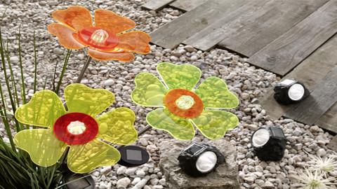 LED solarni svetla ve tvaru kvetiny