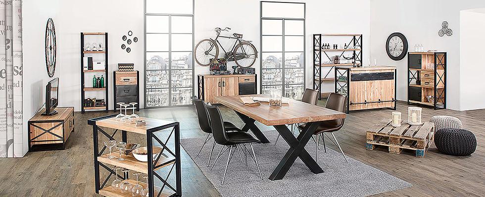 esszimmerstühle industrial style