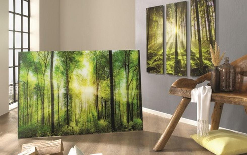 Slike na steklu - Zelena idila
