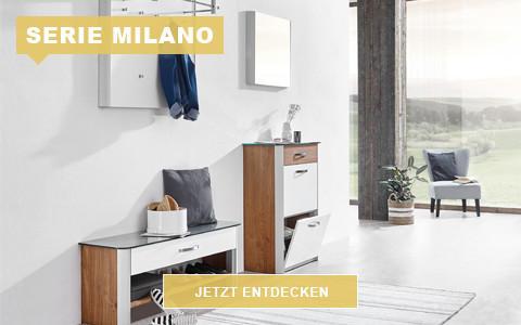 Garderobe Milano weiß Eiche