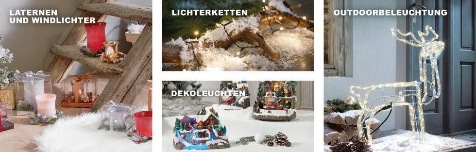 Weihnachtsbeleuchtung Laternen Windlichter Lichterketten Outdoorbeleuchtung Dekoleuchten