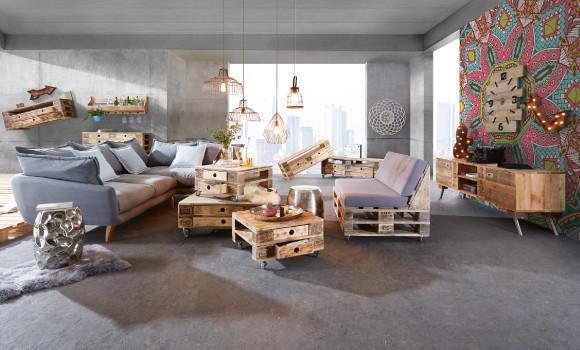 Industrial Design Wohnzimmer bei XXXLutz