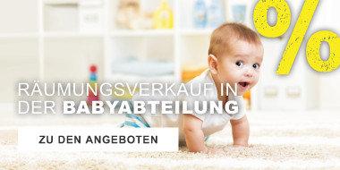 Raeumungsverkauf in der Babyabteilung