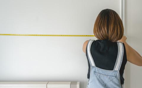 Küche ausmessen Wand