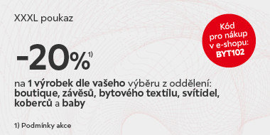 Jeden výrobek se slevou 20%