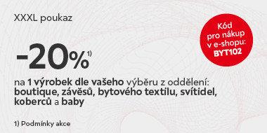 Jeden výrobek se slevou 20%