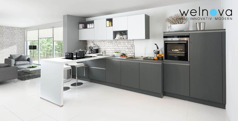 Sivo bijela kuhinja Welnova