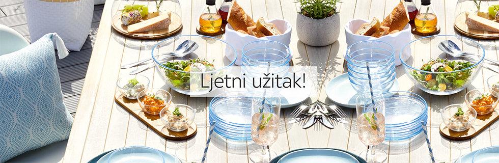 Zdjelice za sladoled i elegantni tanjuri za jelo Leonardo Lesnina XXXL