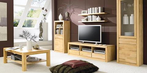 Wohnzimmermöbel weiß massiv  Wohnzimmer aus Massivholz