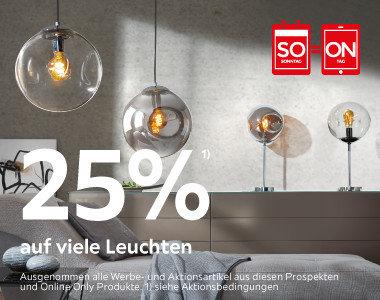 25% auf viele Leuchten