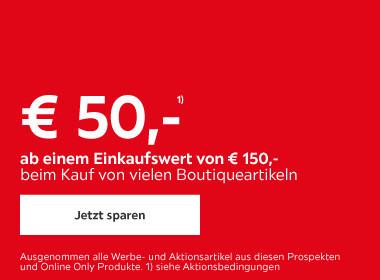 50 € ab einem Einkaufswert von 150€
