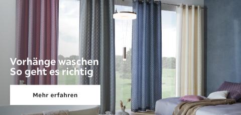 Vorhänge waschen - so geht es richtig