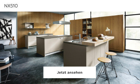 Next Küche Braun Holz  NX510
