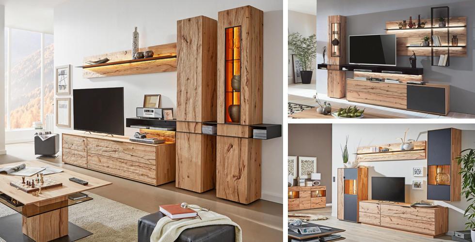 Holz im Wohnzimmer, natürlich schön, Lina bei XXXLutz.