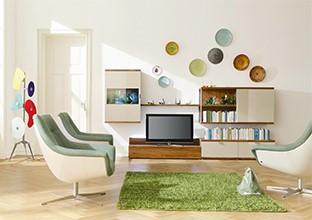 Individuální designy v obývacím pokoji v XXXLutz.