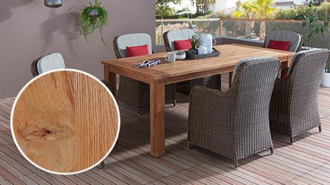 Gartentisch aus massivem Teakholz