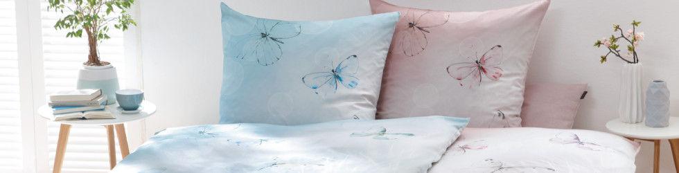 farbenfrohe Bettwäsche mit Schmetterling-Druck